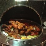 tandoori chicken on the buffet