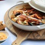Signature Dish - Bouillabaisse of White Fish, Crab, Mussels, Clams & Prawns, R