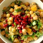 Chickpea & Tamarind Salad with Mango and Pomegranate Seeds