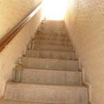 Stairs leading to our rooms on the first floor