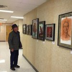 Larry Haun catches the last day of Paul Zdepski's exhibit