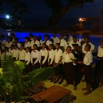 Local village choir at resort on Sunday Night