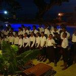 Local village choir at resort on Sunday Night