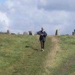 The ancient grass trail from the Maidens