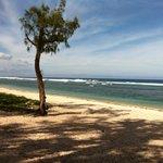 le lagon et la plage