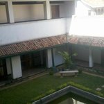 View of the central courtyard from the rooms