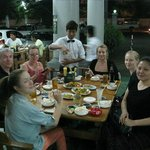 dinner with other guests on our last night