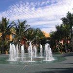 """Water plaza at the """"Maya Caribe"""""""