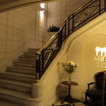 Internal staircase leading to breakfast