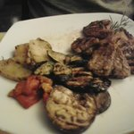 Lamb chops with vegtables