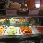Fruit dishes at the buffet restaurant