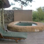 Plunge pool on room deck