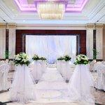 A wedding reception in Al Jiwar ballroom