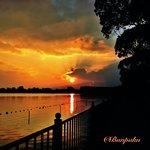 伊丹市瑞ヶ池の夕陽
