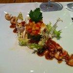 Vorspeise Flusskrebse Salat