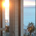 Blick vom Balkon am Morgen