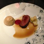 Deer from Svanoy with mushrooms and cranberry.