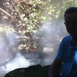 volcanic steam!