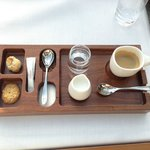 espresso cofee set at Serre restaurant in hotel