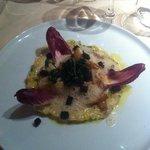 aile de raie poilée sur risotto d'endives... délicieux...