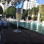 Bubbly by the pool