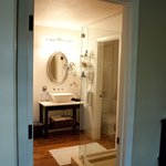 The luxuriously appointed bathroom