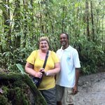 Levi and me in the rainforest