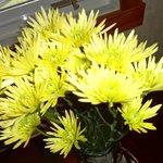 Flowers  put in room