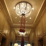 Chandelier at the Elevator area.