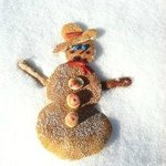 """Frosty the Snowman"" Pancakes, too cute!!!!"