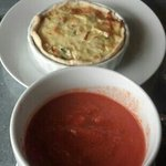Crab and Brie Quiche with Tuscan Tomato Soup