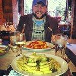 Lunch--lasagna and chicken/broccoli ziti. So good!!