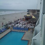 View from our room looking down at Ocean Annie's