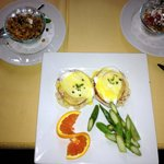Wow factor breakfast with mimosas