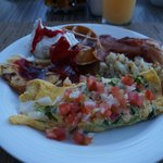 Breakfast Buffet, awesome every morning. Loved the omelettes