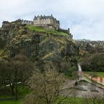 The view of Edinburgh Castle from our bedroom window, what more could one ask