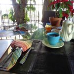 Breakfast around the Tamarind tree