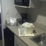 Kitchenette in the suite.