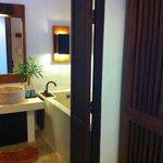 entrance into bathroom