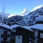 view of Matterhorn from the Apartment