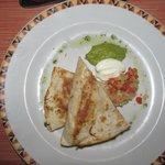 chicken quesadilla appetizer at el patio restaurant