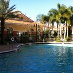 Pool area at Homewood Suites Lake Buena Vista-Orlando