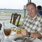 My father and I having lunch at the Speedway club in July 2011