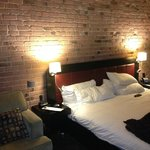Exposed brick in suite