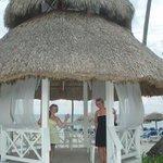 Gazebo by beach