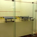 squash and table tennis