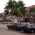 Shops outside hotel
