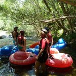 Having a break at the end of some rapids
