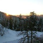 vue de notre chambre,coucher du soleil