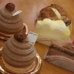 montblanc cakes, cheese cakes and chocofudge at LeTao